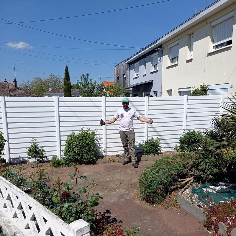 Pose d'une clôture Après